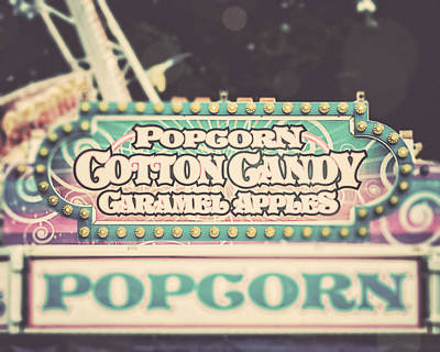 Popcorn Stand Carnival Photograph From The Summer Fair Print by Lisa Russo