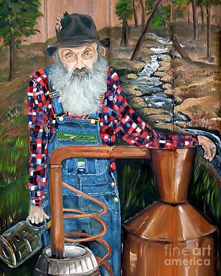 Scots Painting - Popcorn Sutton - Bootlegger - Still by Jan Dappen