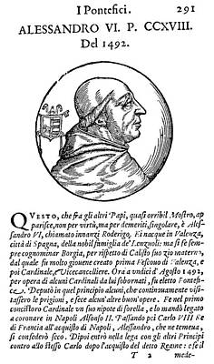 Borgia Painting - Pope Alexander Vi (1431-1503) by Granger