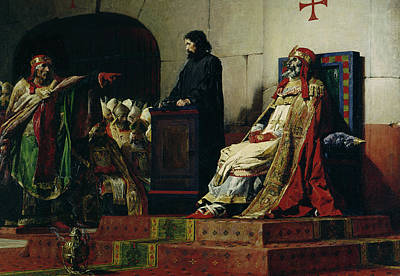 Pope Formosus And Pope Stephen Vi Print by Jean Paul Laurens
