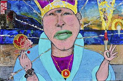 Pope Of Pie Print by Billy Knows