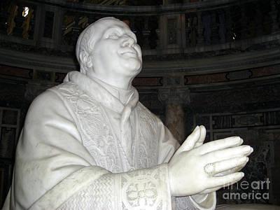 Carved Photograph - Pope Pius Ix Santa Maria Maggiore by Deborah Smolinske