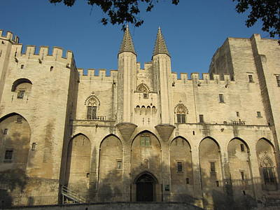 Popes Palace In Avignon Print by Pema Hou