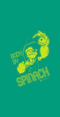 Spinach Digital Art - Popeye - Body By Spinach by Brand A