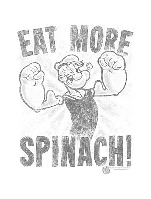 Spinach Digital Art - Popeye - Eat More Spinach by Brand A