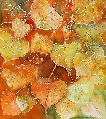Poplar Leaves Print by Susan Crossman Buscho