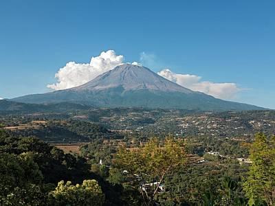 Popocatepetl Volcano Print by Daniel Sambraus