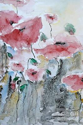 Poppies 01 Print by Ismeta Gruenwald