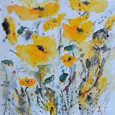 Poppies 03 Print by Ismeta Gruenwald