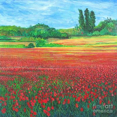 Poppies Field Painting - Poppies 2 by Pamela Iris Harden
