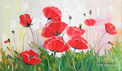 Poppies Print by Denisa Laura Doltu