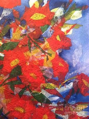 Poppies Gone Wild Print by Sherry Harradence
