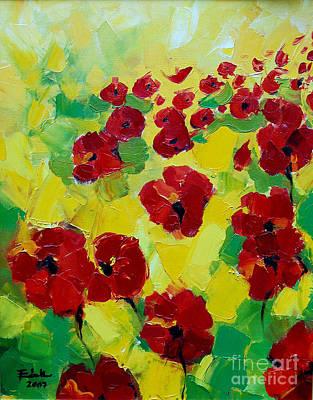 Chromatic Painting - Poppies I by Mona Edulesco