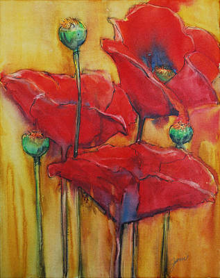 Early Spring Mixed Media - Poppies IIi by Jani Freimann