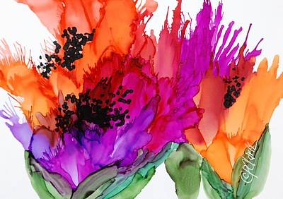 Painting - Poppy Delight by Donna Pierce-Clark
