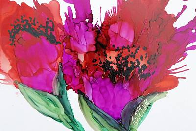 Painting - Poppy Delight II by Donna Pierce-Clark