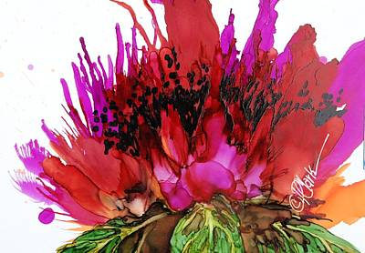 Painting - Poppy Delight IIi by Donna Pierce-Clark