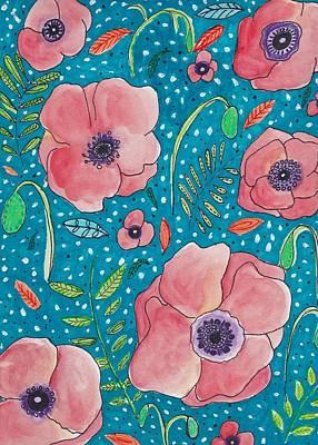 Folk Art Painting - Poppy Dream by Rosalina Bojadschijew