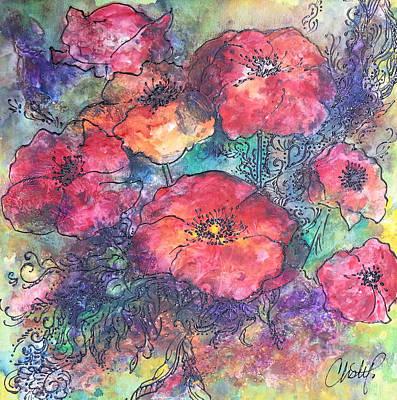 Poppy Flower Splash Of Spring Original by Christy  Freeman