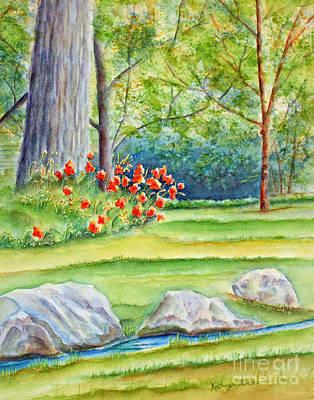 Orange Painting - Poppy Garden by Kathryn Duncan