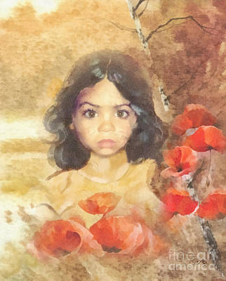 Poppies Field Painting - Poppy by Mo T