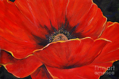 Impressionist Mixed Media - Poppy by Nancy Bradley