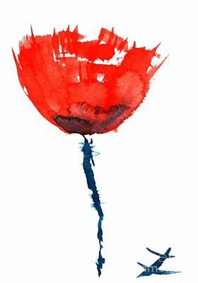Poppy Print by Zaira Dzhaubaeva
