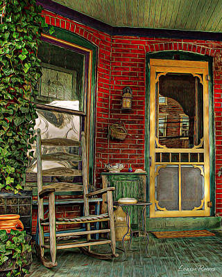 Screen Doors Photograph - Porch Rocker by Louise Reeves