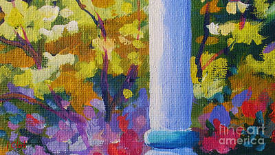 Expressionist Painting - Porch View by John Clark