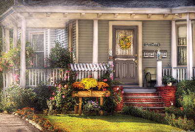 Porch - Westfield Nj - The House Of An Angel Print by Mike Savad