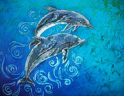 Porpoise Pair Print by Sue Duda