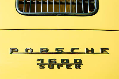 Porsche 1600 Super Rear Emblem Print by Jill Reger