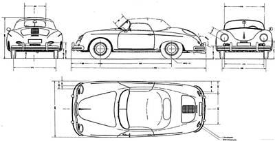 Porsche 356 Speedster Print by Georgia Fowler