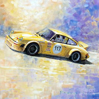 Racing Legend Painting - Porsche 911 S Typ G Josef Michl by Yuriy Shevchuk