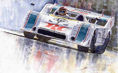 Sports Legends Painting - Porsche 917 10 Rc Cola Team Follmer by Yuriy  Shevchuk