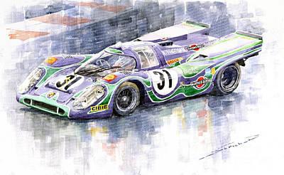 Racing Legend Painting - Porsche 917 K Martini Racing 1970 by Yuriy  Shevchuk