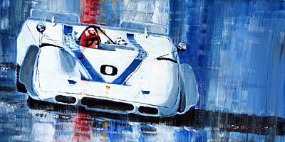Porsche 917 Pa J.siffert Laguna Seca Canam 1969 Print by Yuriy Shevchuk