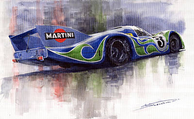 Racing Legend Painting - Porsche 917 Psychodelic  by Yuriy Shevchuk