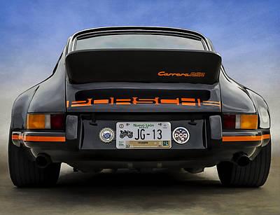 Autos Digital Art - Porsche Carrera Rsr by Douglas Pittman