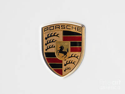 Porsche Emblem Dsc2483 Print by Wingsdomain Art and Photography