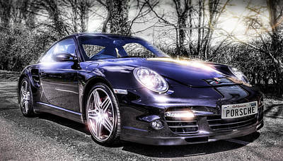 Porsche Print by Ian Hufton