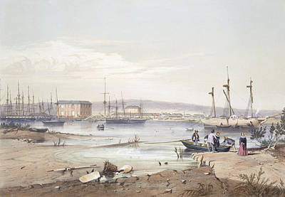 Australian Drawing - Port Adelaide From South Australia by George French Angas