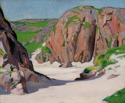 Scottish Colourist Painting - Port Bhan  Iona by Francis Campbell Boileau Cadell