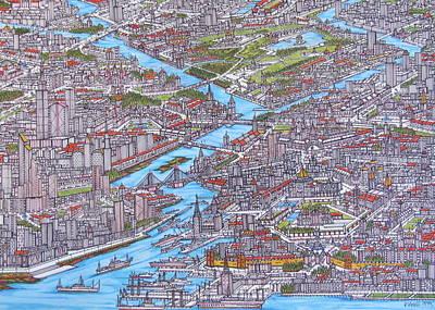 Port City Of Glembi Print by Panayiotis Vasili