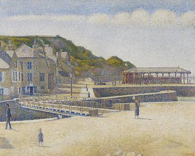 Port En Bessin Print by Georges Pierre Seurat