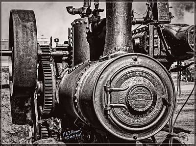 Keck Photograph - Port Huron Engine And Threshing Company - Black And White by F Leblanc