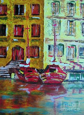 Knife Painting - Port Jaune Painting by Mario Perez