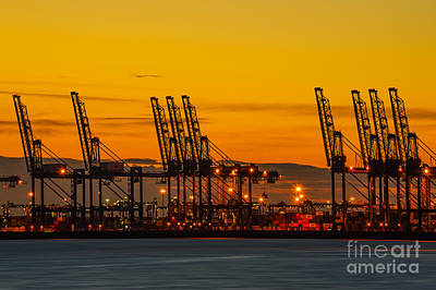 Technical Photograph - Port Of Felixstowe by Svetlana Sewell