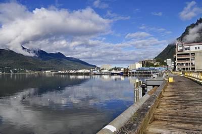Port Of Juneau Print by Cathy Mahnke