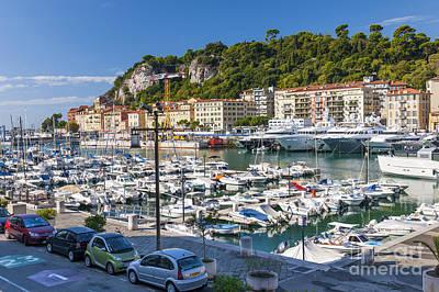 Port Of Nice In France Print by Elena Elisseeva